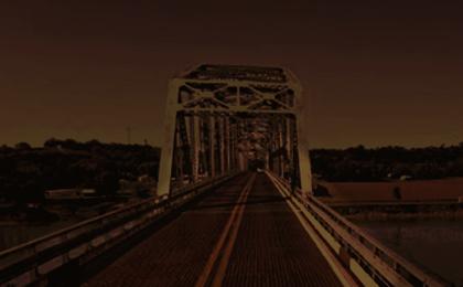 dark bridge w headlights