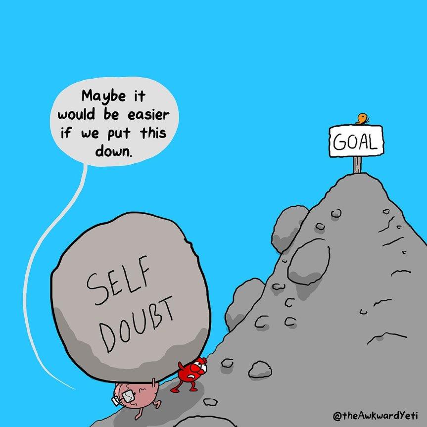 awkward yeti self doubt