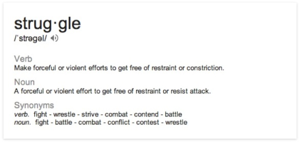 Struggle definition