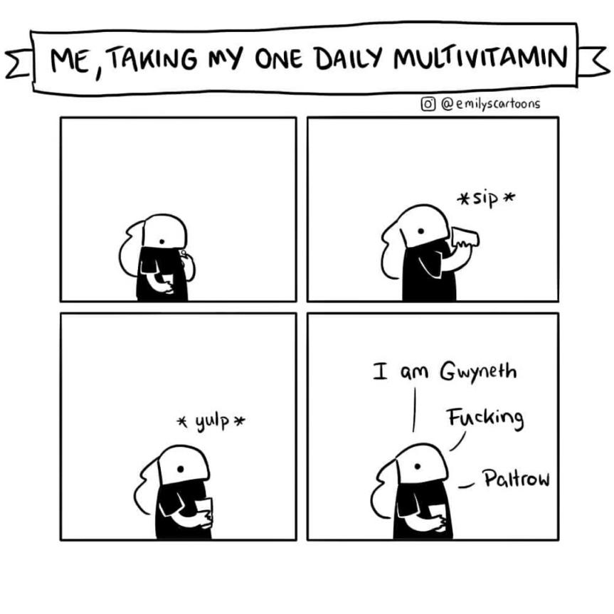 Emily's Cartoons - multivitamin