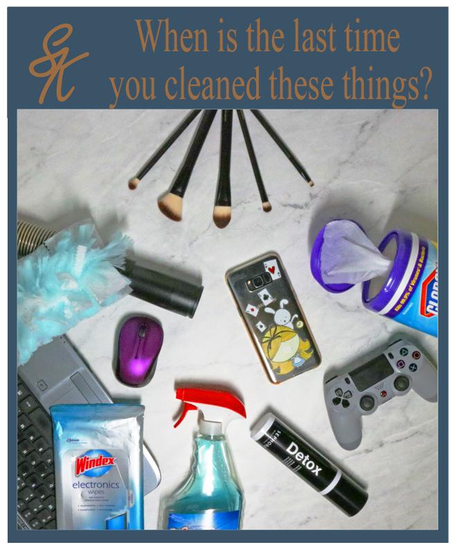Sandy Kay - Cleaning Flatlay