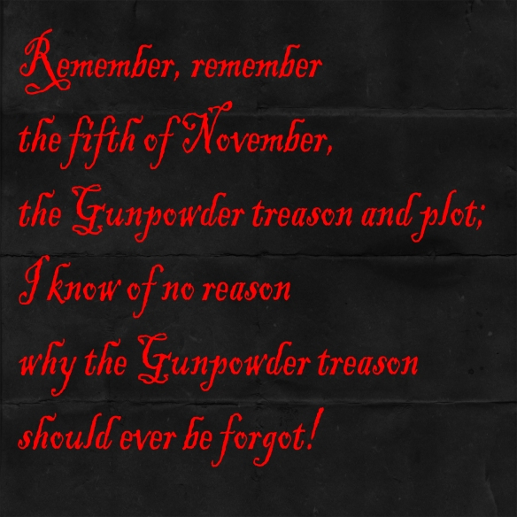 SK - Gunpowder plot quote