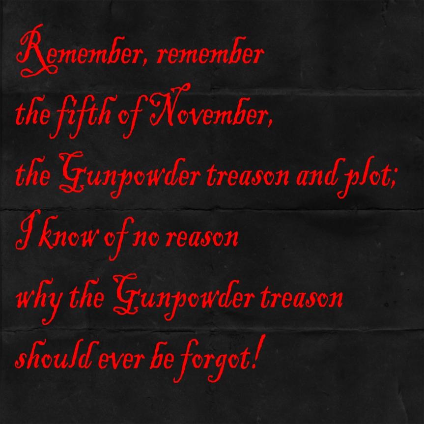 SK - Gunpowder plot quote