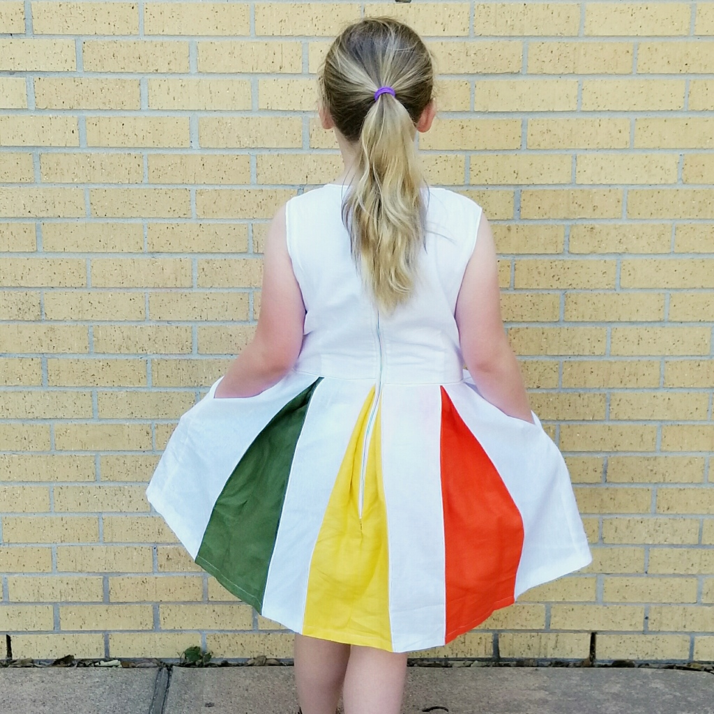 Rainbow Pleat Dress - back