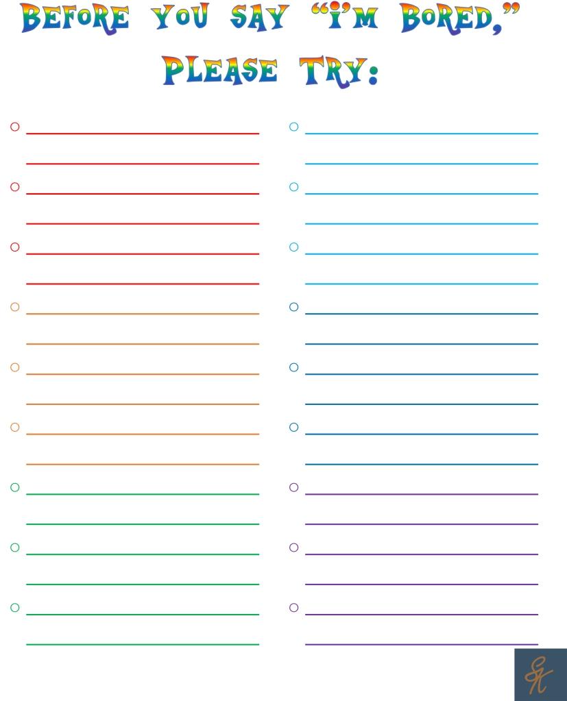 SK Bored List - blank