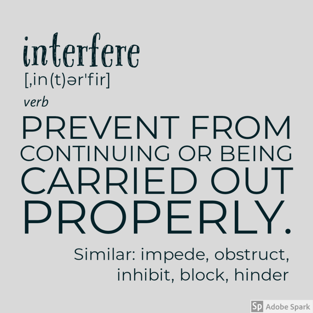 definition of interfere