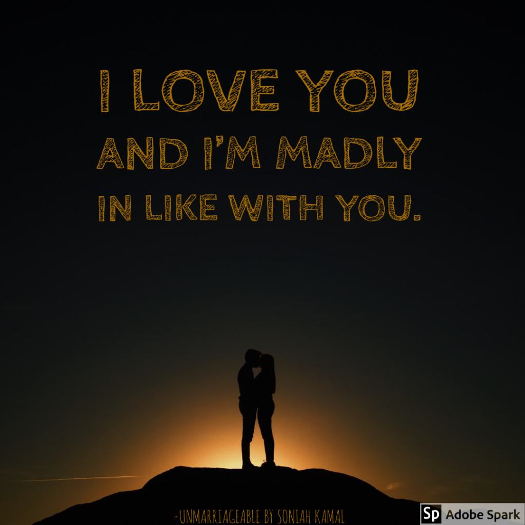I love you and I'm madly in like with you.