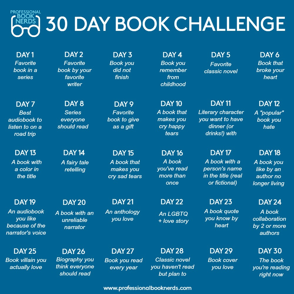 Professional Book Nerds 30 Day Book Challenge