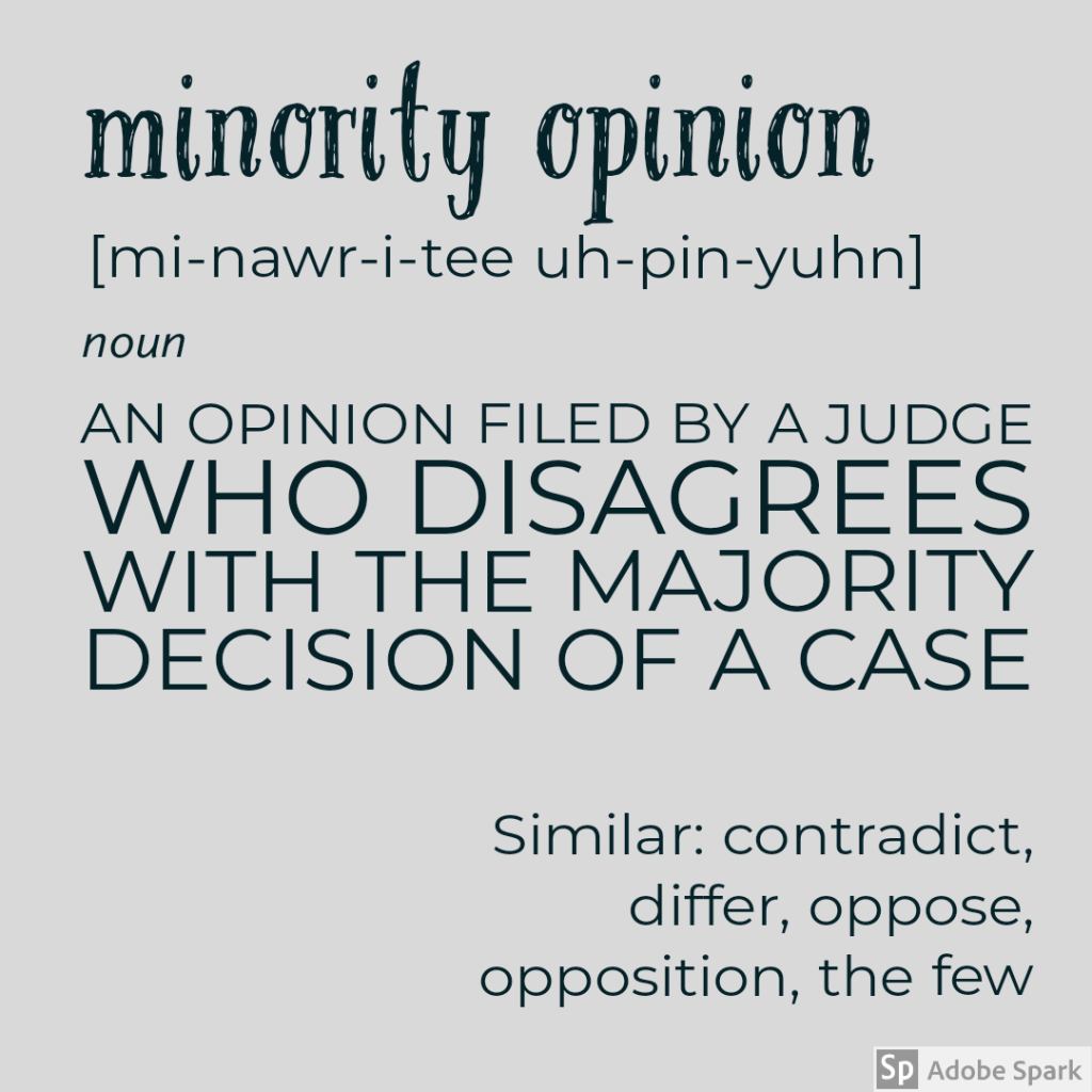 minority opinion definition