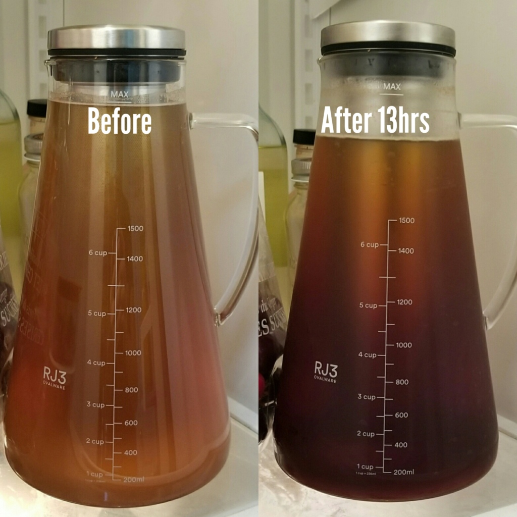 SK Cold Brew before and after
