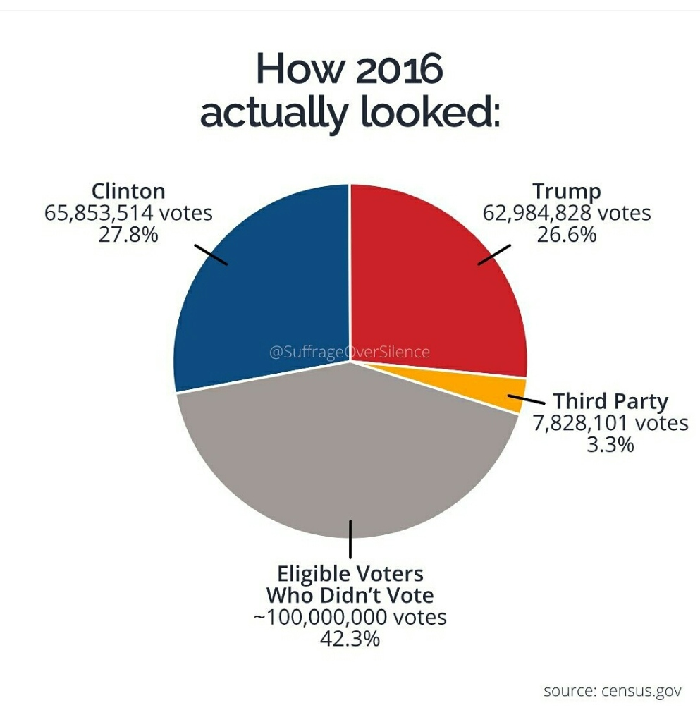 How the 2016 election actually  looked