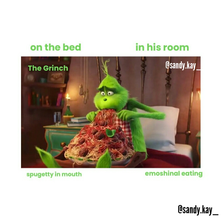 The Grinch prepositions