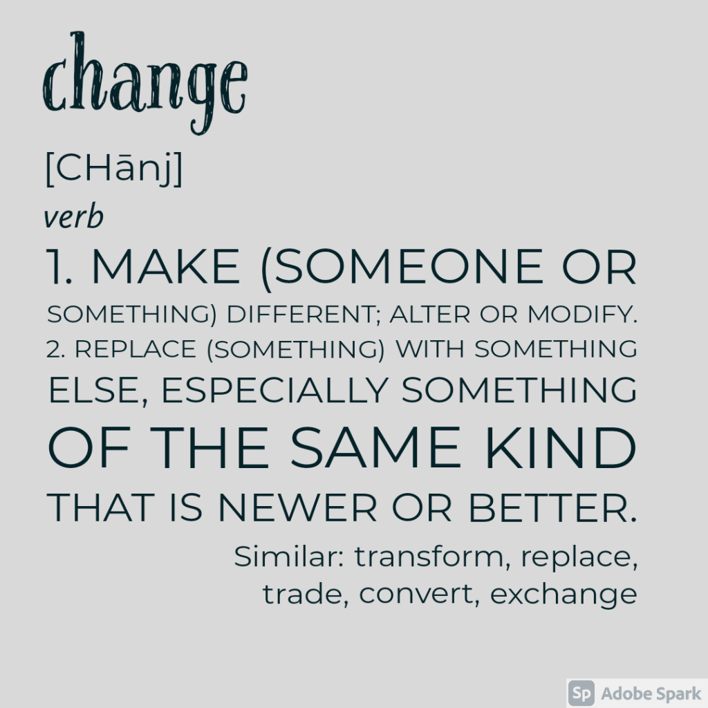 Change definition and synonyms