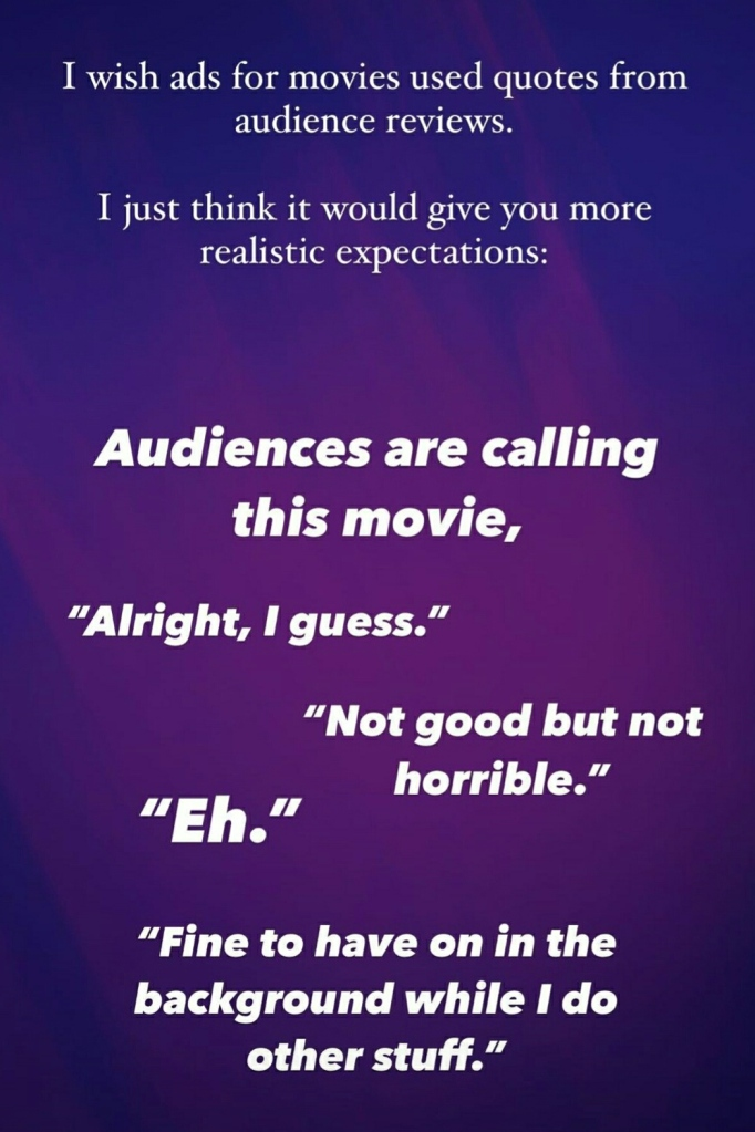 movie ads with audience reviews
