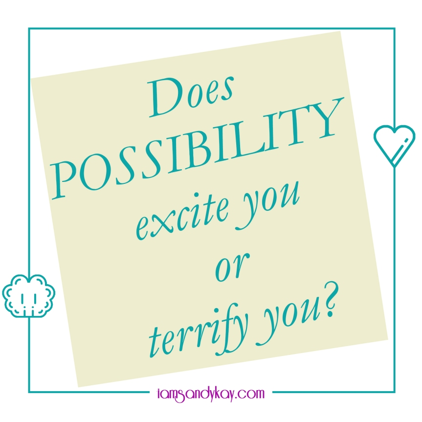 Does possibility excite you or terrify you?