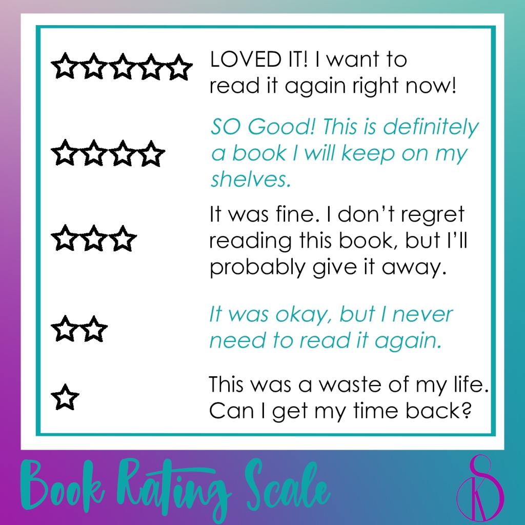 SandyKay Book Rating Scale by stars